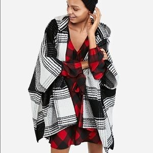 NWT! Express hooded poncho